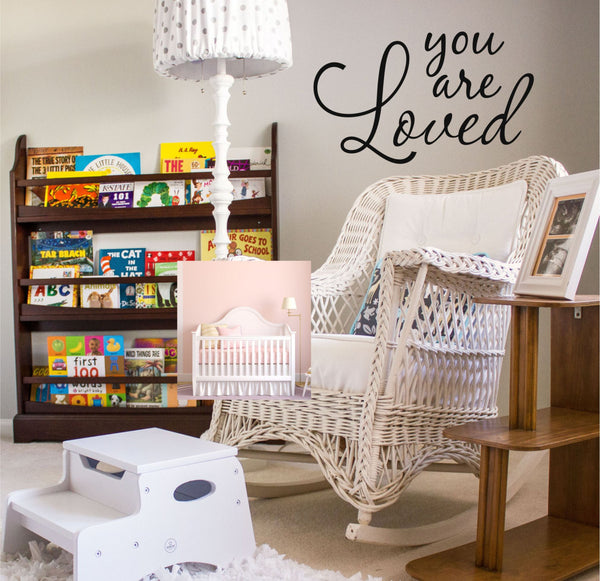 You Are Loved Wall Quotes Home Decor Kids Room Decor Decal Vinyl Wall Decal Sticker - Decor Designs Decals - 1