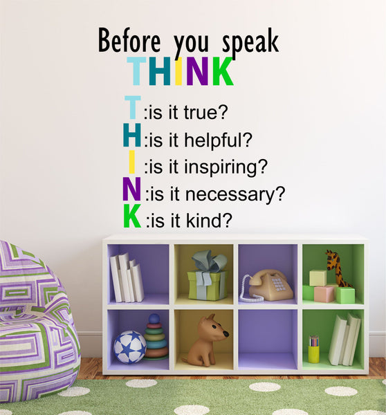 Before You Speak Wall Decal - Decor Designs Decals - 1