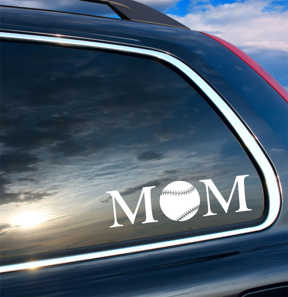 MOM Baseball Car Decal - by Decor Designs Decals, softball mom decal, baseball mom decal, car sticker, car baseball decal, car softball decal, baseball sticker, H36 - Decor Designs Decals - 1