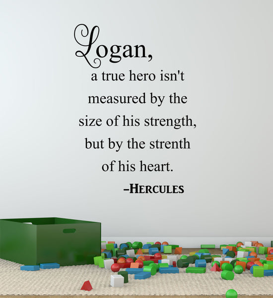 Hercules Quote Wall Decal - Decor Designs Decals - 1