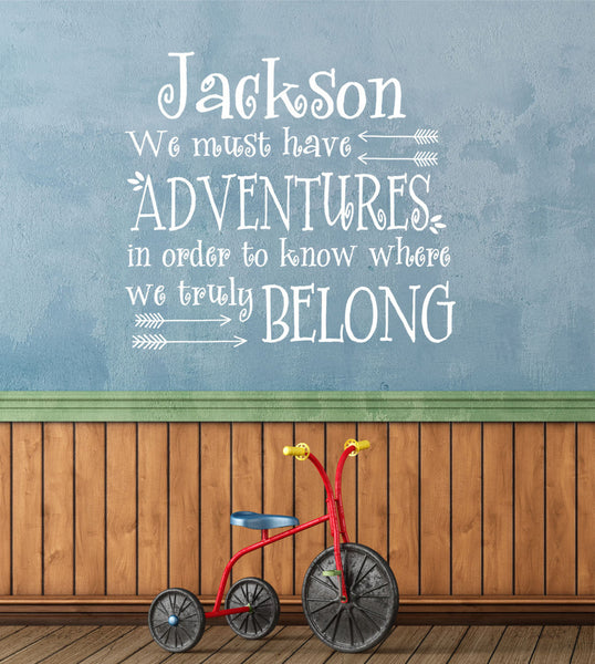 We Must Have Adventures Quote- by Decor Designs Decals, Adventure Awaits Decal Quote Wall Decals Boho Arrows Kids Nursery Vinyl Stickers Home Bedroom Decor, PP48 - Decor Designs Decals - 1