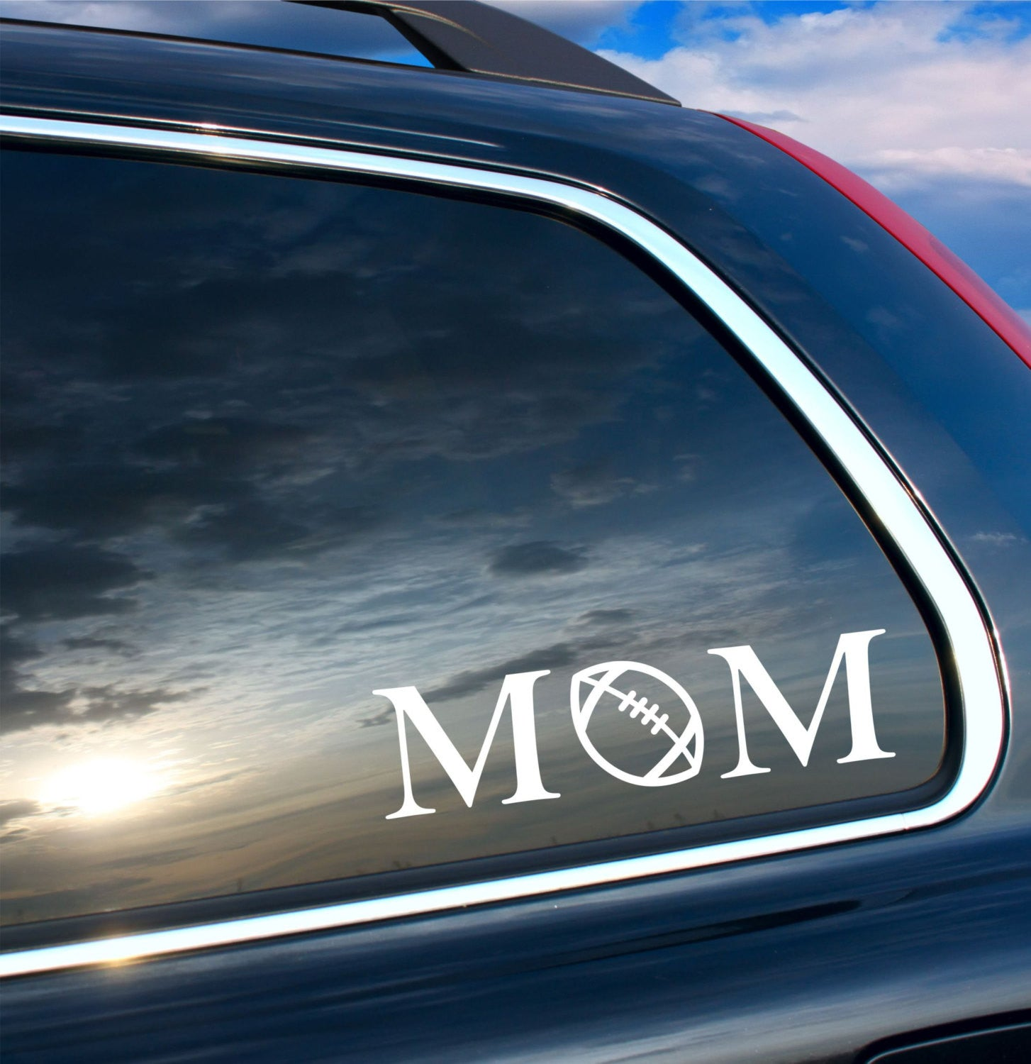 Mom football car decal by decor designs decals football mom sticker