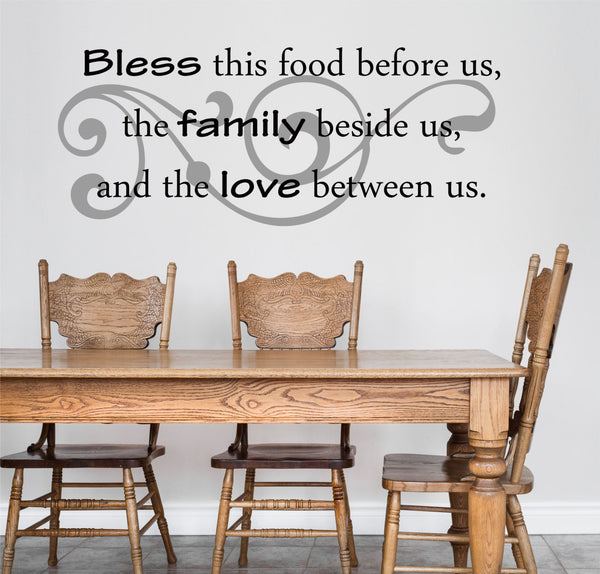 Bless This Food Wall Decal - Decor Designs Decals - 1