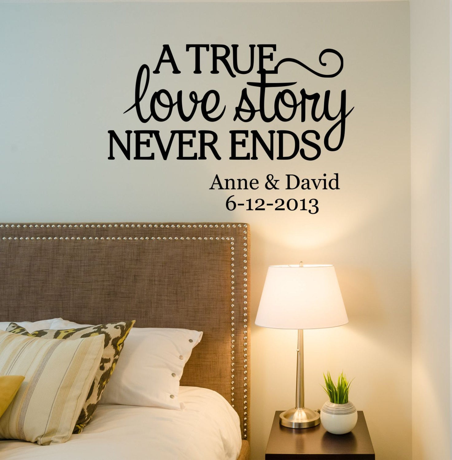 Love Story Quote Wall Decal- by Decor Designs Decals, love story decal,  bedroom decals,family name, family signs, Every Love Story, Love ...