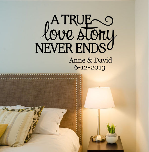 Love Story Quote Wall Decal- by Decor Designs Decals, love story decal, bedroom decals,family name, family signs, Every Love Story, Love decal,Romantic Decal PP1 - Decor Designs Decals - 1