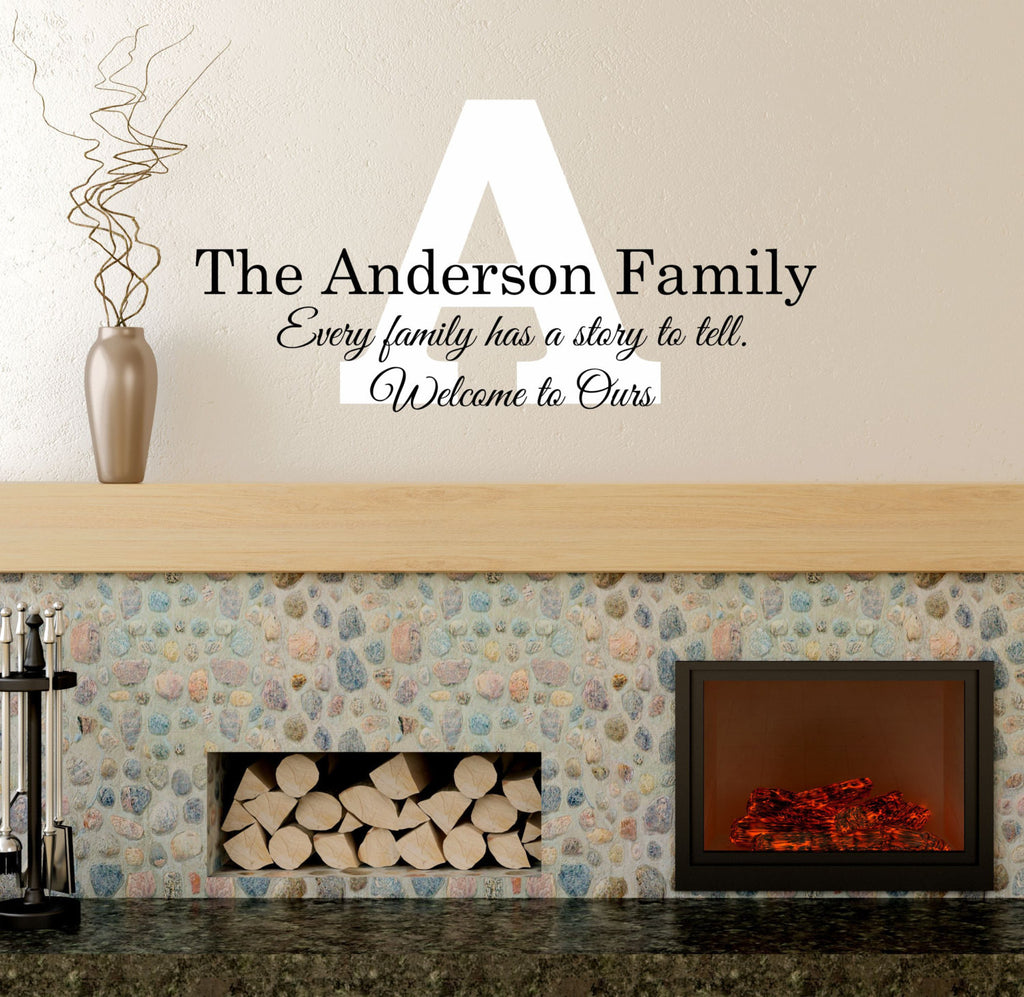 Every Family Has A Story Wall Decal   By Decor Designs Decals  Family Name,  ...