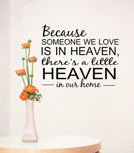 Love Is In Heaven Wall Decal - Decor Designs Decals - 1
