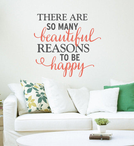 Happy Quote Wall Decal - Decor Designs Decals - 1