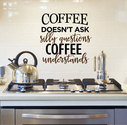 Coffee Quote Wall Decal - Decor Designs Decals - 1