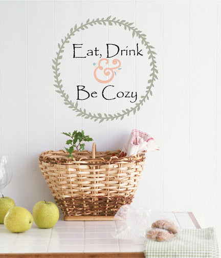Eat, Drink Wall Decal - Decor Designs Decals - 1