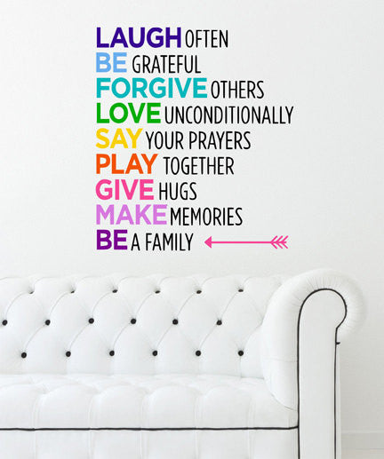 Laugh Often Quote  Sticker Vinyl Wall Decal Sticker - Decor Designs Decals - 1