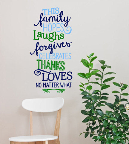 Family Quote Wall Decal - Decor Designs Decals - 1