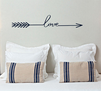 Love Arrow Decal - by Decor Designs Decals, Arrow Decor - Love Arrow Wall Decal - Loved Arrow Wall Art, Sticker Vinyl Wall Decal Sticker, Bedroom Wall Decal, Decals - Decor Designs Decals - 1