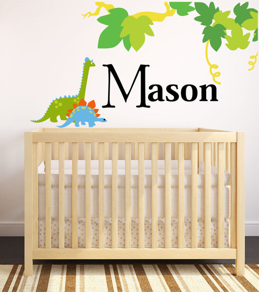 Boys Jungle Dino Name Wall Decal - Decor Designs Decals - 1