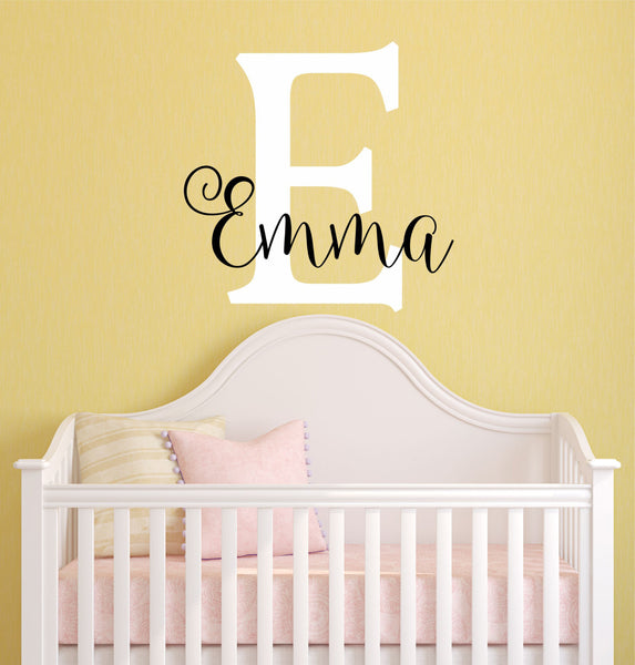 Name And Initial Wall Decal - Decor Designs Decals - 1