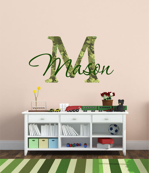 Camouflage Boys Name Wall Decal - Decor Designs Decals - 1