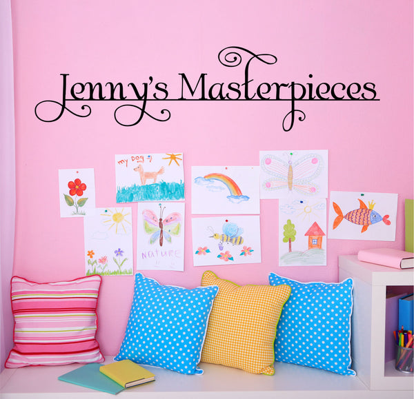 Masterpieces Wall Decal For Children's Art Wall - Masterpieces Wall Decal - Customize Playroom, Art Wall Decal, Wall Decals, Name Decal F16 - Decor Designs Decals - 1