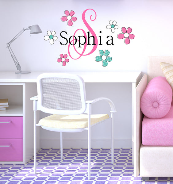 Flower Name Wall Decal - Decor Designs Decals - 1