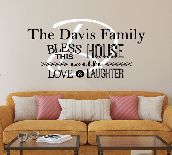Kitchen Decals - by Decor Designs Decals, Bless This House Wall Decal - Kitchen Vinyl Decal - Bless Our Family Decal - Kitchen Quotes - Vinyl Quote - Sticker - AU7 - Decor Designs Decals - 1