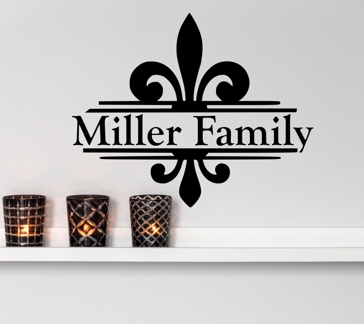 Family name wall decals fleur de lis by decor designs decals fleur de lis decal fleur de amipublicfo Gallery