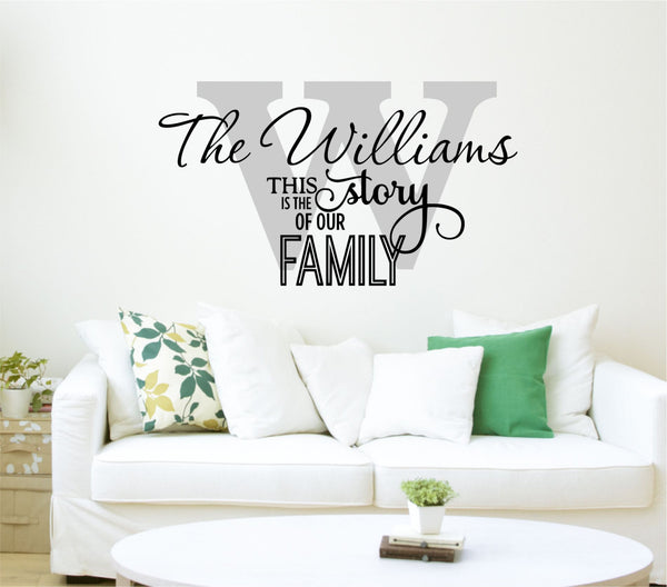 Family Name Decal - This Is Our Story Quote - Personalized Family Wall Decal Name Monogram - Vinyl Wall Decal Family Wall Decal Wedding Au25 - Decor Designs Decals - 1