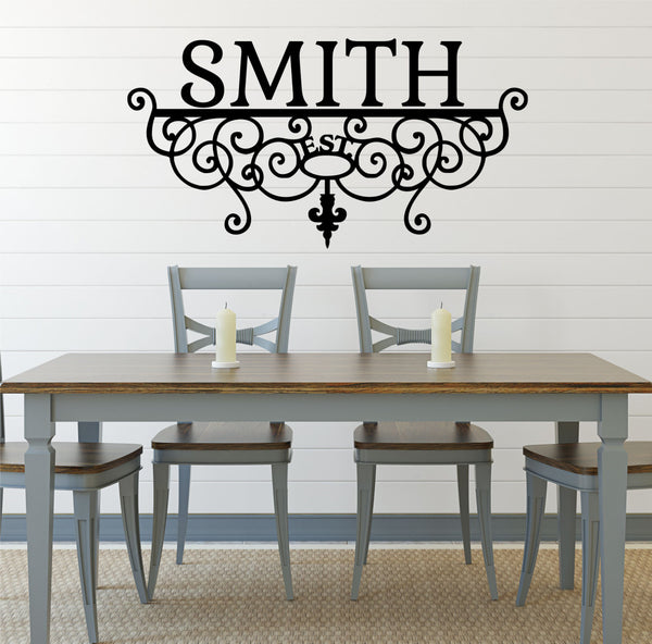 Family Name Decal - Personalized Family Wall Decal Name Monogram - Vinyl Wall Decal Family Wall Decal Wedding, Wall Decal, Sticker - AU29 - Decor Designs Decals - 1