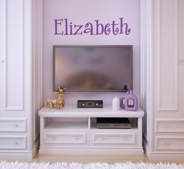 Curly Font Name Wall Decal - Decor Designs Decals - 1