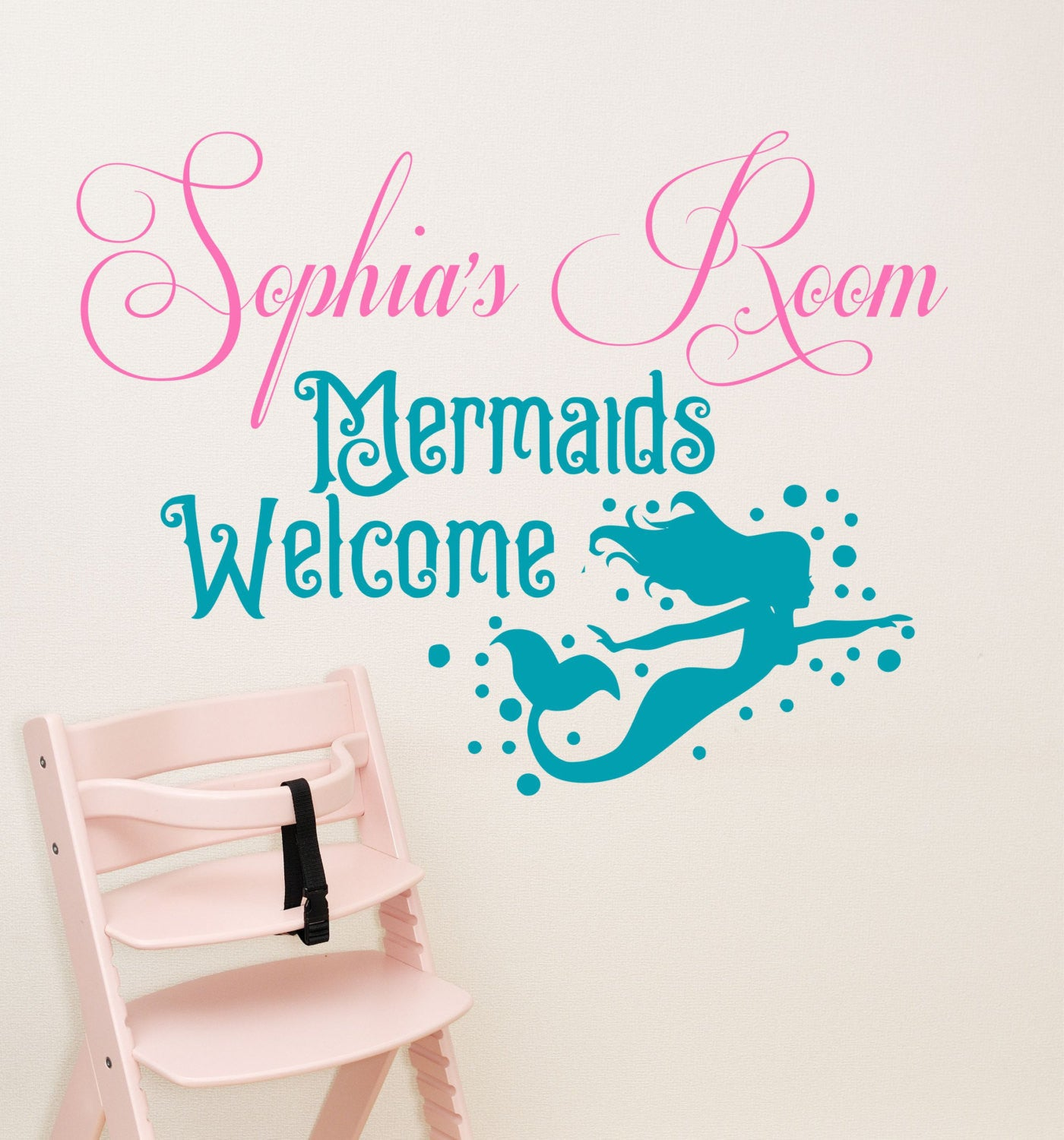Girls quote wall decals mermaid decal by decor designs decals girls mermaid decal girls wall decal amipublicfo Images