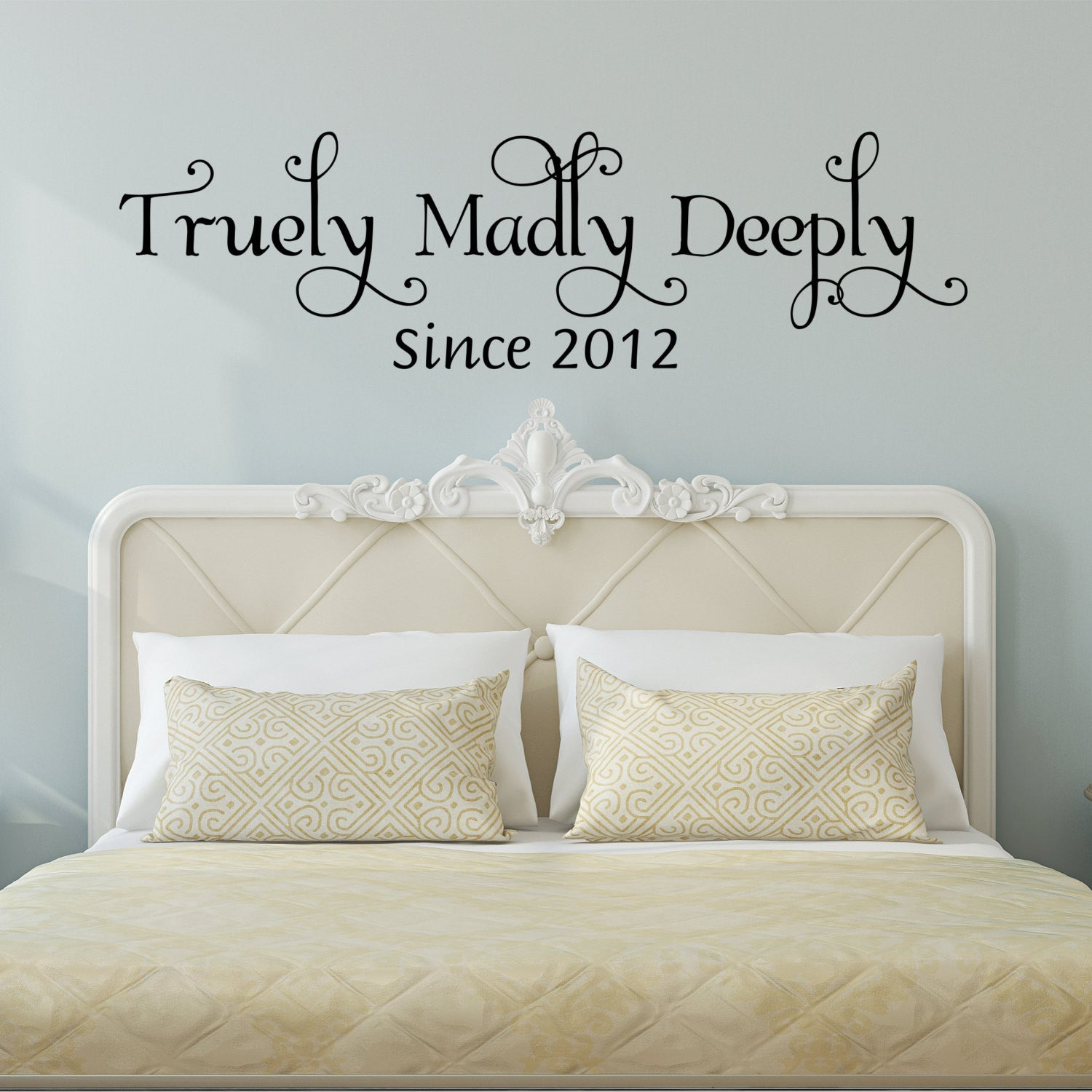 Truly Madly Deeply Wall Decal- by Decor Designs Decals, Bedroom Wall Decal  - Bedroom Decor - Bedroom Wall Decor-Master Bedroom Decor- Bedroom Decal-  ...