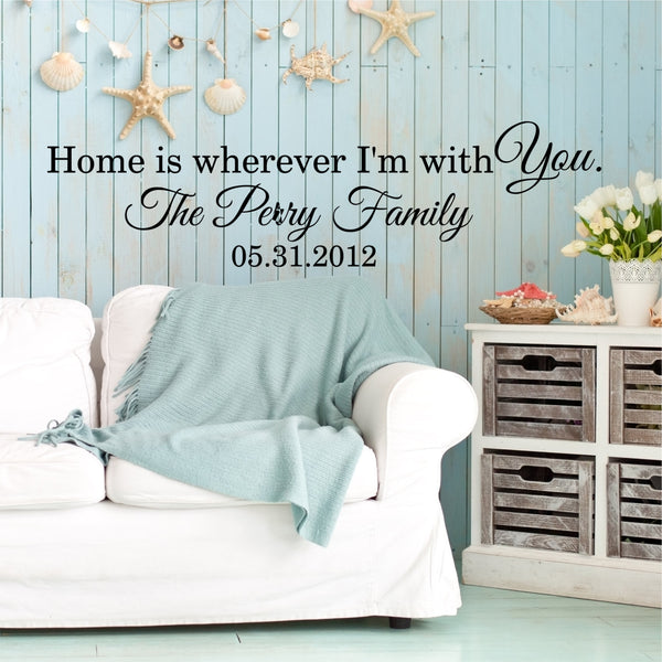 Home Is Wherever Iu0027m With You Custom Wall Quote Wall Words Vinyl Wall Decal