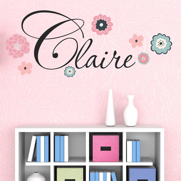 Flower Personalized Wall Decal - Decor Designs Decals - 1