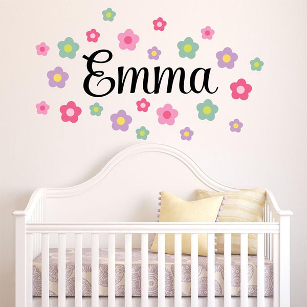 Sale. 30% Off. 1 Day Only. Use Coupon Code 30sale. Emma Flowers Personalized Custom Vinyl Wall Decal Sticker - Decor Designs Decals - 1