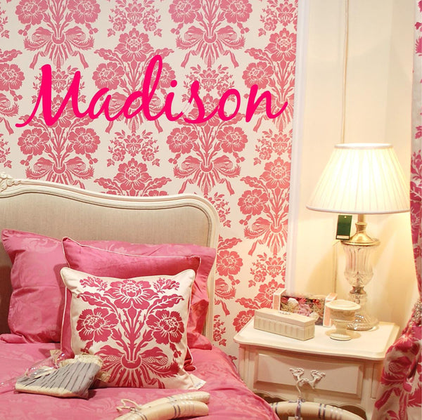Personalized Custom Girl's Name Vinyl Wall Decal Sticker - Decor Designs Decals - 1