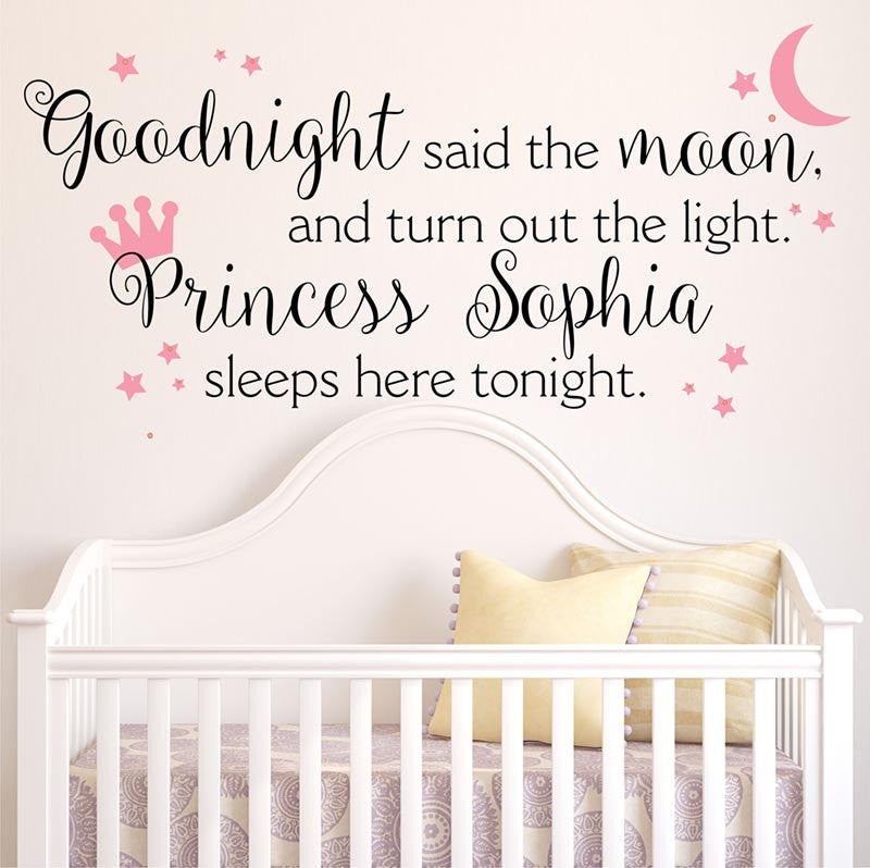 Princess Crown Personalized Vinyl Wall Decal By Decor Designs Decals - Personalized vinyl wall decals