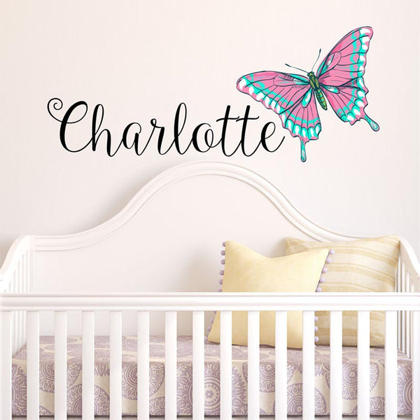 Butterfly Personalized Wall Decal - Decor Designs Decals - 1