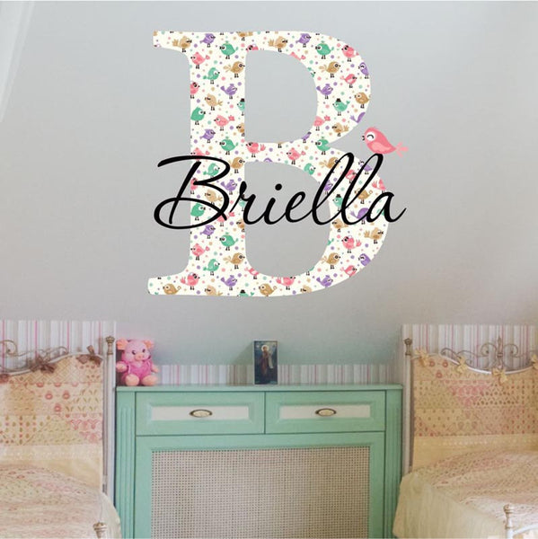 Bird Name Wall Decal - Decor Designs Decals - 1