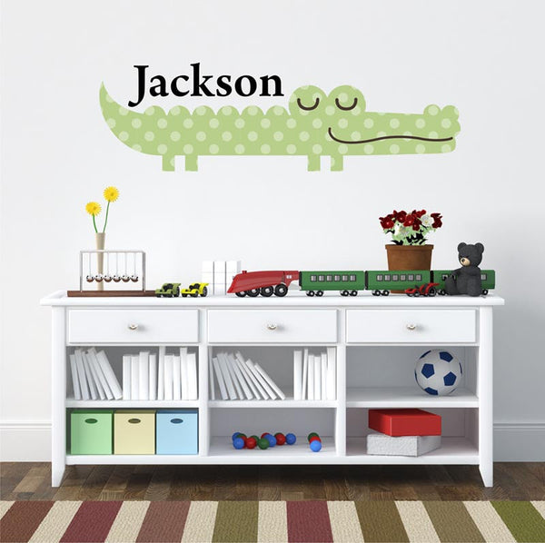Wall Decals Nursery - by Decor Designs Decals, King of the Jungle Baby Nursery Decor with Sleeping Lion, Giraffe, Elephants and Monkeys, Boys Name Decals, Names CC3 - Decor Designs Decals - 1
