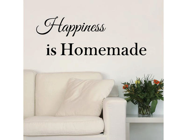 Happiness is Homemade Quote Vinyl Wall Decal Sticker - Decor Designs Decals - 1