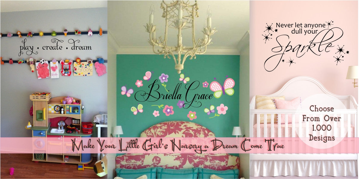 Girls' Custom Personalized Vinyl Wall Decals
