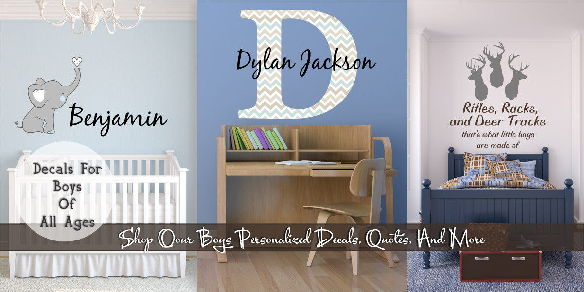 Boys' Custom Personalized Vinyl Wall Decals