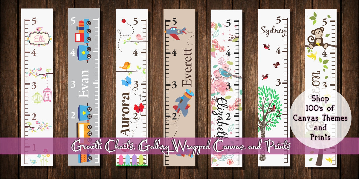 Our growth charts are fun for you and your kids!