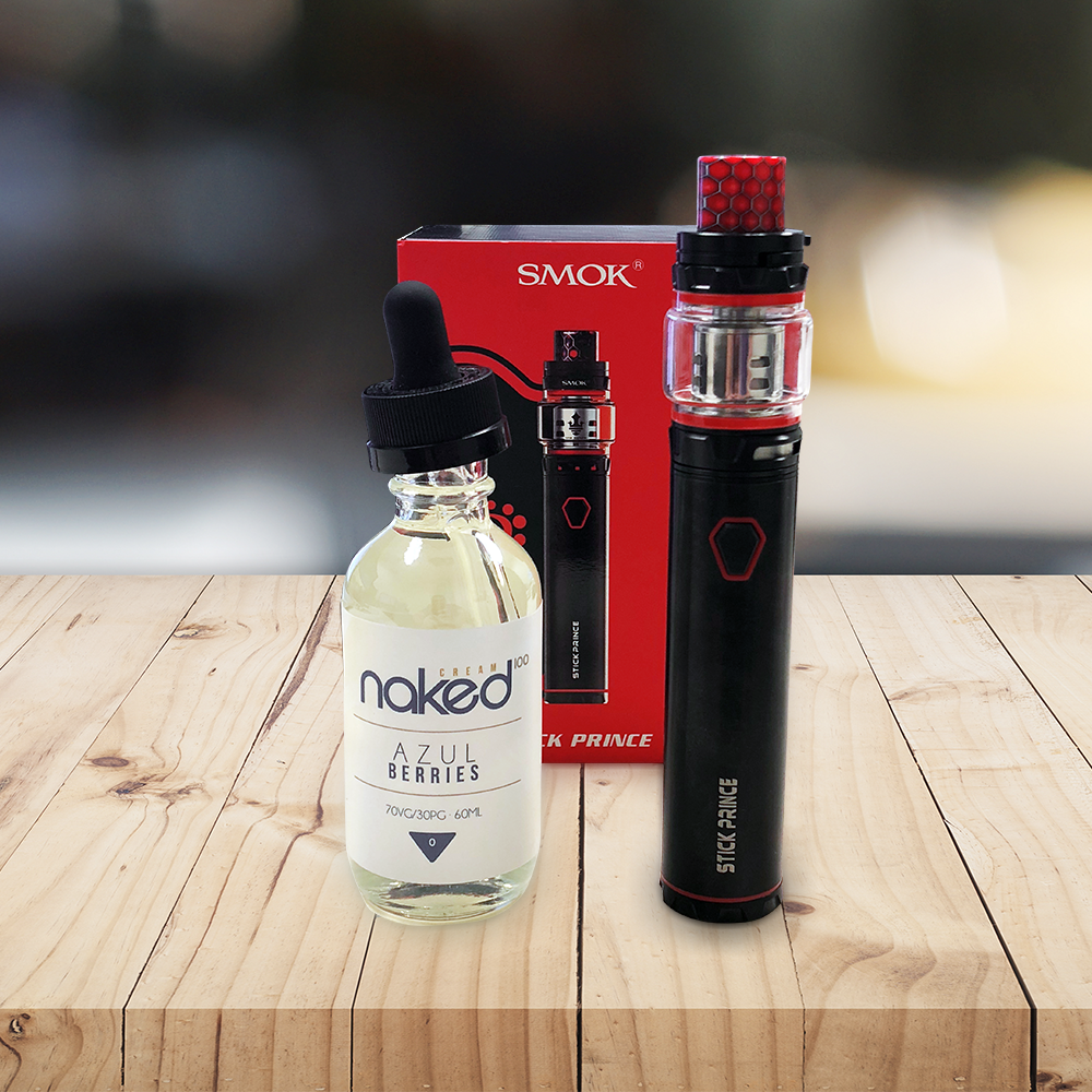 Smok Prince Starter Kit Review with Naked 100 Azul Berries by Drops of Vapor