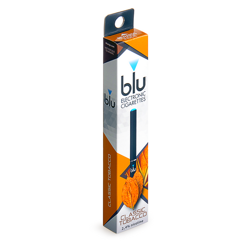 blu blu 2.4% nicotine Classic Tobacco 1 eCIG Single - Drops of Vapor - 1