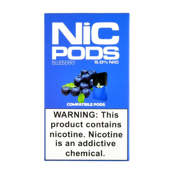 Nic Pods - Nic Pods Blueberry Pack of 4 - Drops of Vapor