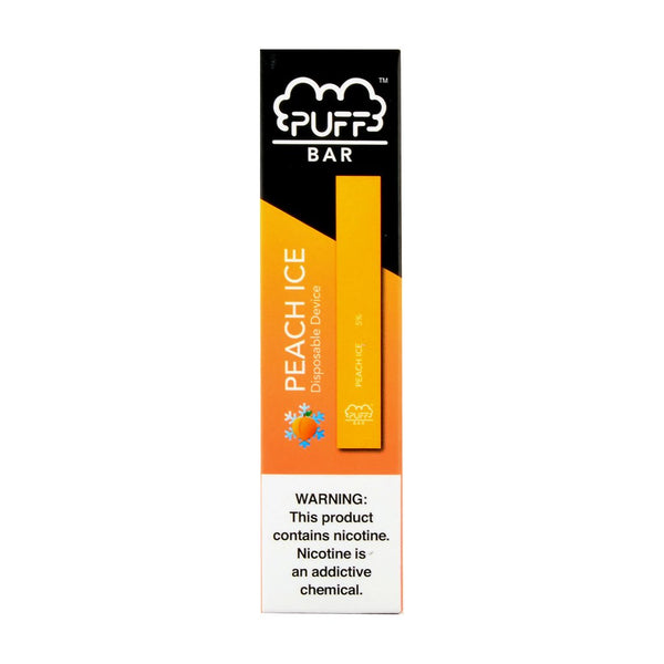 Puff - Puff Bar Disposable Pod Device Peach Ice - Drops of Vapor