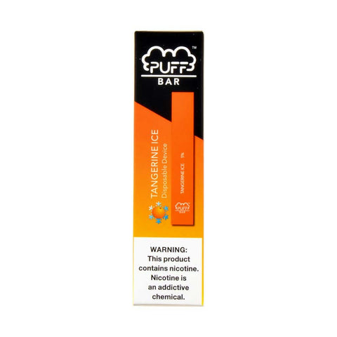 Puff - Puff Bar Disposable Pod Device Tangerine Ice - Drops of Vapor