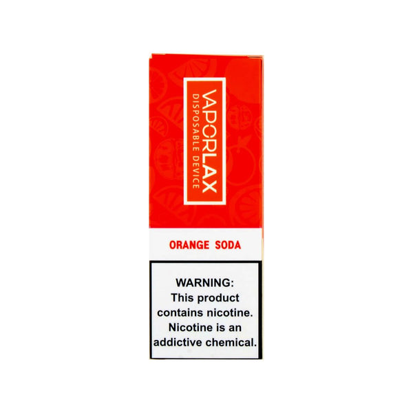 VaporLax Max Disposable Vape Orange Soda