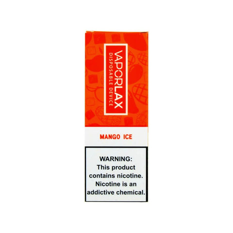 VaporLax Max Disposable Vape Mango Ice