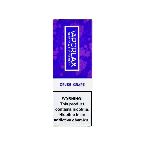 VaporLax Max Disposable Vape Crush Grape