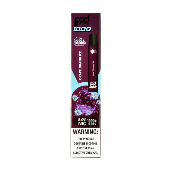 PodStick Max Disposable Vape Device Grape Drank Ice